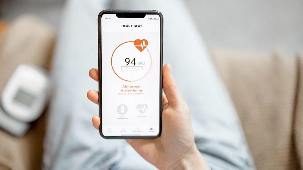 Sebuah software di smartphone yang digunakan untuk mengukur detak jantung